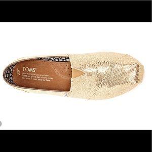 Gold Glitter Toms